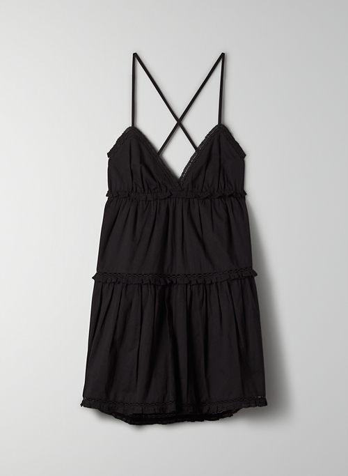 ANGELA DRESS - Strappy, tiered mini dress