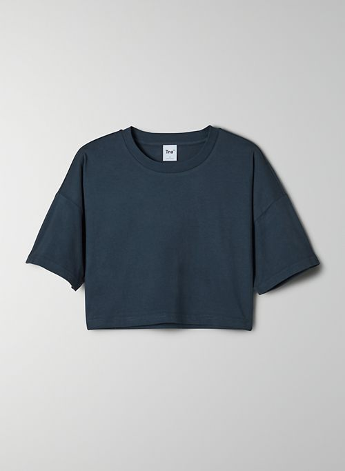 LAID BACK T-SHIRT - Boxy-fit, cropped t-shirt