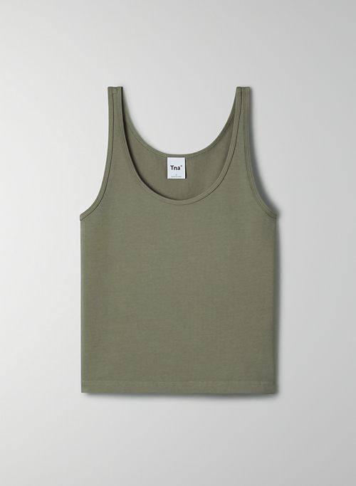 BERGMAN TANK - Cropped, scoop-neck tank top
