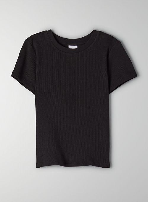 RIBBED CROPPED T-SHIRT - Cropped, ribbed t-shirt