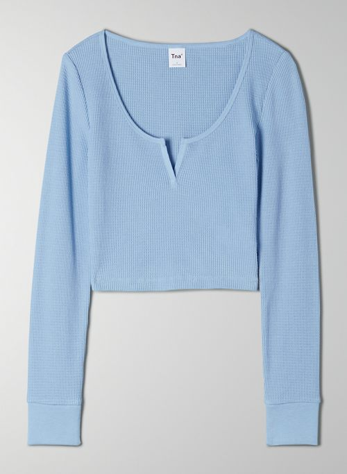THERMAL SCOOPNECK - Cozy cropped, thermal longsleeve