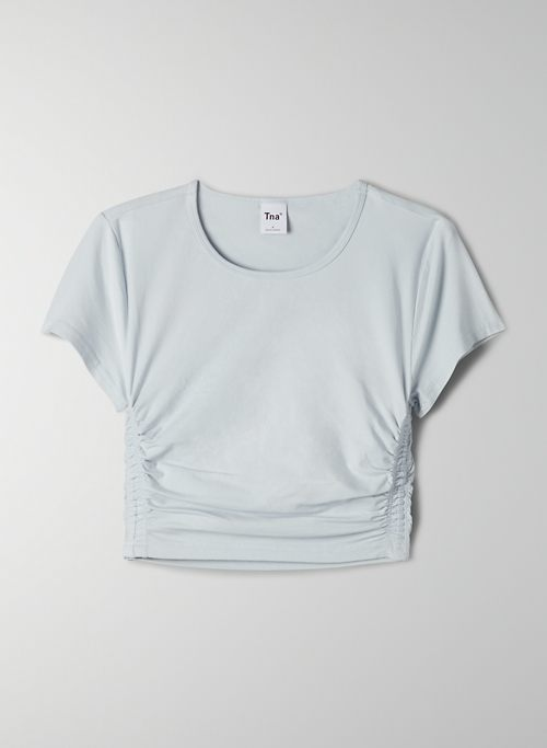 MALIBU T-SHIRT - Ruched cropped t shirt