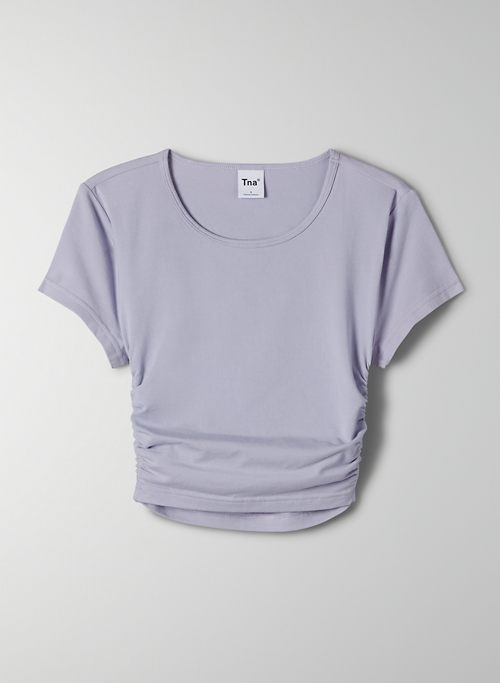 MALIBU T-SHIRT - Ruched cropped t shirt