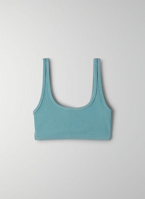 TNALIFE™ RIBBED BRA TOP - Scoop-neck bra top
