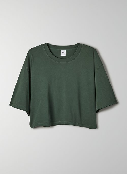 TOUR CROPPED T-SHIRT - Oversized cropped, crew-neck t-shirt