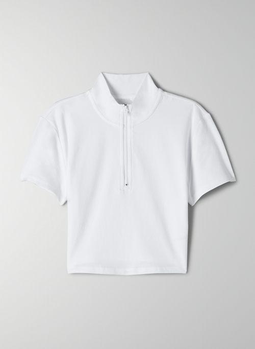 CAMERO T-SHIRT - Cropped, half-zip t-shirt