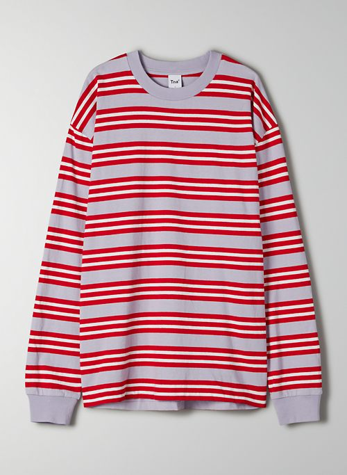 ALPHA LONGSLEEVE - Oversized striped longsleeve