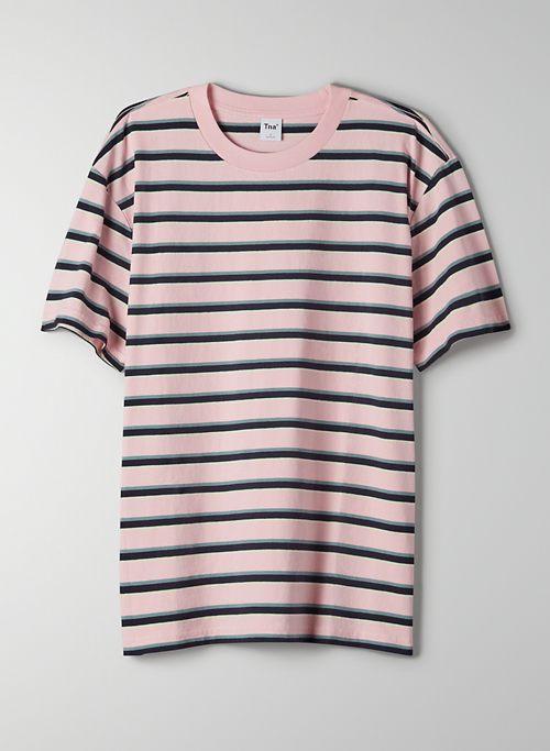 ALPHA T-SHIRT - Striped, crew-neck t-shirt
