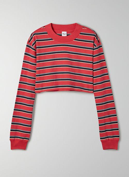 RYER LONGSLEEVE - Cropped, striped longsleeve