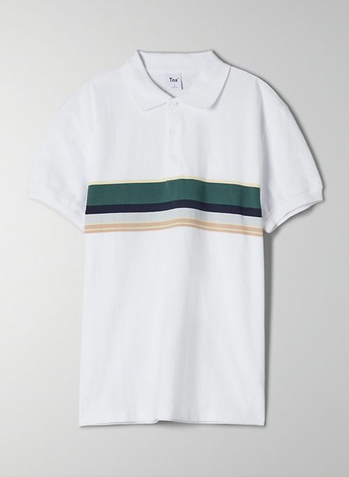ESSEX T-SHIRT - Striped polo t-shirt