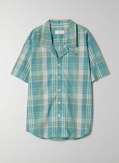 ALTON BUTTON-UP - Short-sleeve, plaid button up