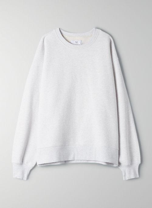 COZY FLEECE BOYFRIEND CREW SWEATSHIRT - Oversized crew-neck sweatshirt