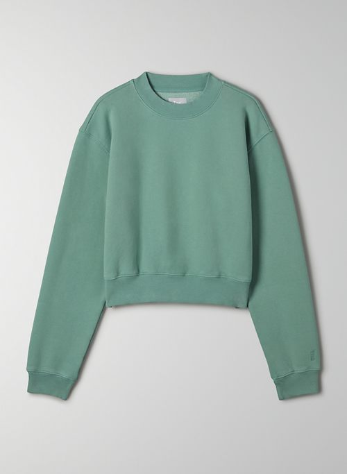 COZY FLEECE PERFECT SHRUNKEN SWEATSHIRT