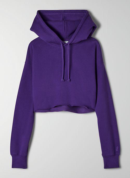COZY FLEECE BOYFRIEND CROPPED HOODIE - Oversized, cropped hoodie