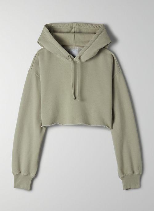 COZY FLEECE BOYFRIEND CROPPED HOODIE - Oversized cropped hoodie