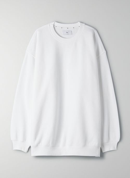 COZY FLEECE MEGA CREW SWEATSHIRT - Oversized crew-neck sweater