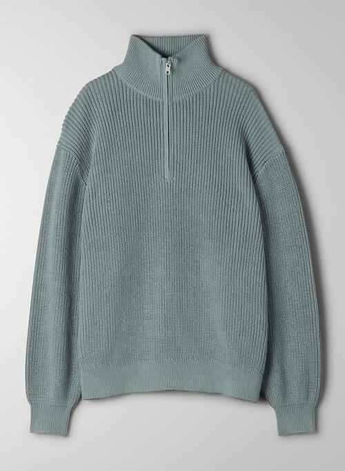 ASHBURY SWEATER - Mock-neck, half-zip sweater