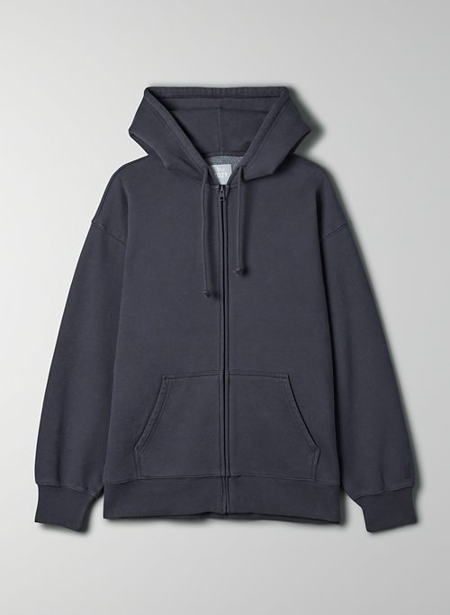 COZY FLEECE BOYFRIEND ZIP-UP HOODIE