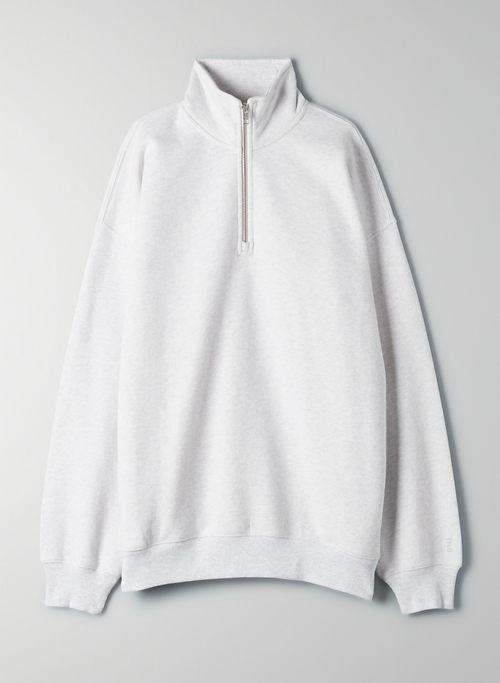 COZY FLEECE MEGA ¼ ZIP SWEATSHIRT - Oversized 1/4 zip sweatshirt