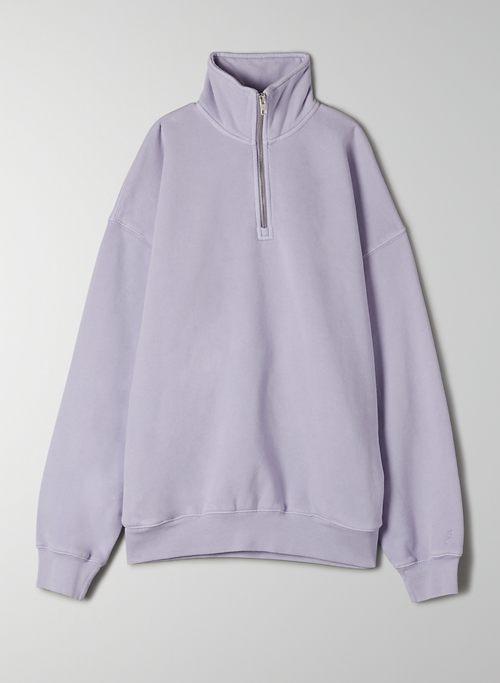 COZY FLEECE BOYFRIEND 1/4 ZIP SWEATSHIRT - Oversized, 1/4 zip sweater