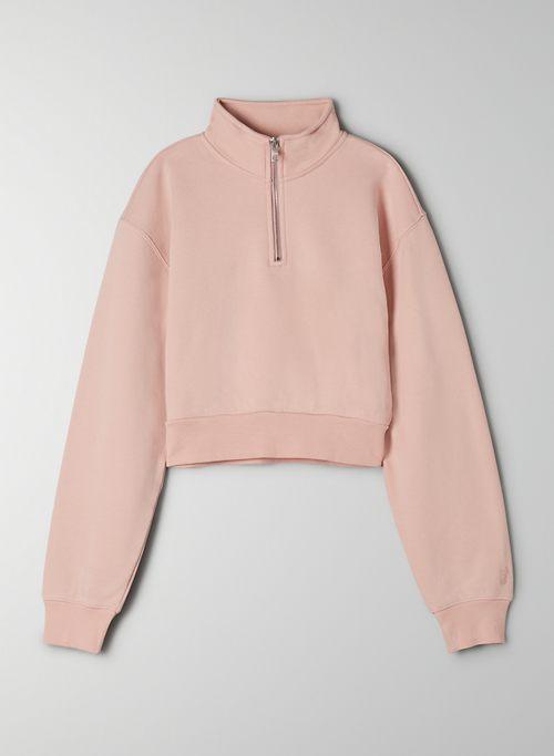COZY FLEECE PERFECT 1/4 ZIP SWEATSHIRT - Cropped 1/4 zip sweatshirt