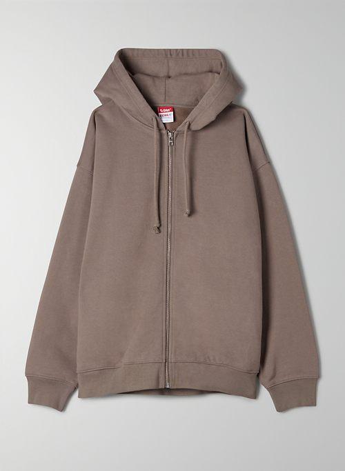 EXTRA FLEECE MEGA ZIP-UP HOODIE - Oversized zip-up hoodie