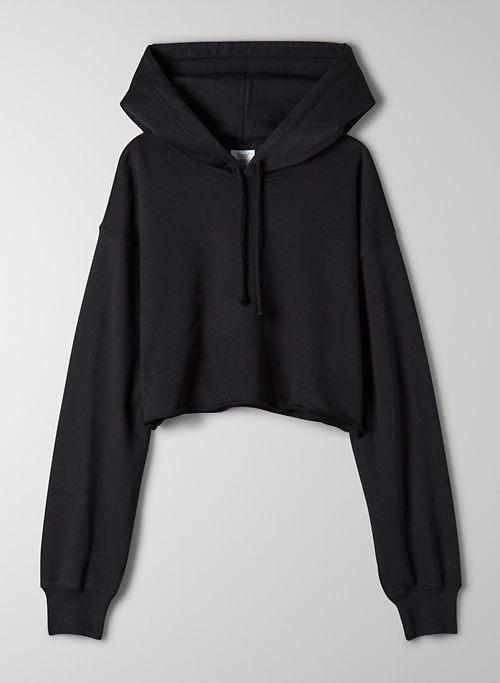 AIRY FLEECE BOYFRIEND CROPPED HOODIE - Oversized cropped hoodie
