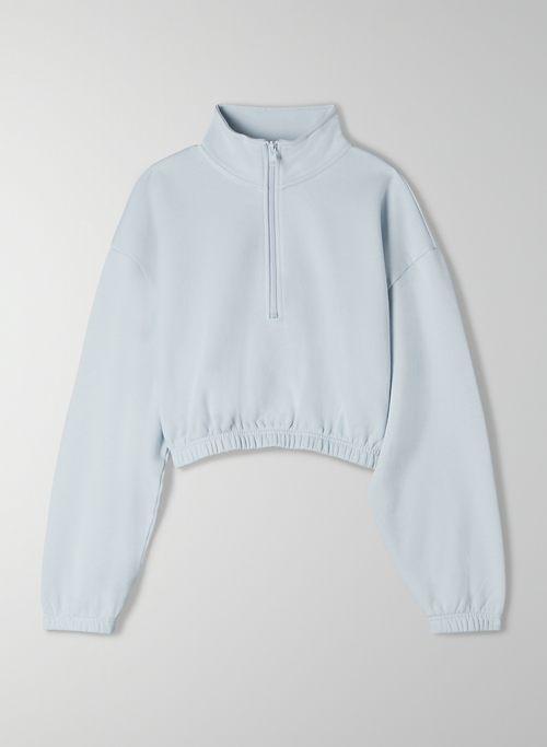 PURE FLEECE BOYFRIEND 1/4 ZIP SWEATSHIRT - 1/4-zip fleece sweatshirt