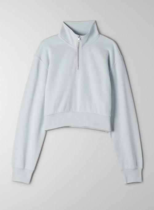 AIRY FLEECE PERFECT 1/4 ZIP SWEATSHIRT - Cropped quarter-zip sweater