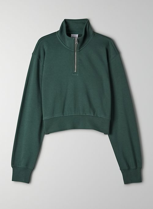 AIRY FLEECE PERFECT 1/4 ZIP SWEATSHIRT - Cropped 1/4 zip sweatshirt