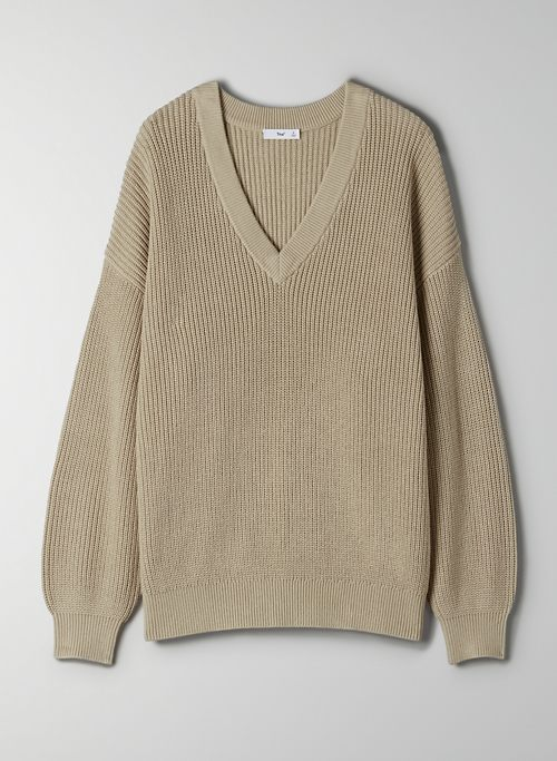 BEACON SWEATER - Knit, V-neck sweater