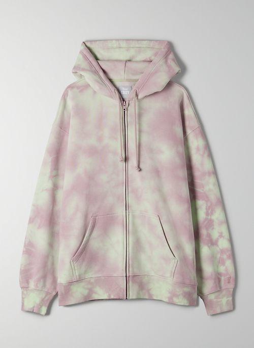 COZY FLEECE BOYFRIEND ZIP-UP HOODIE - Boyfriend zip-up hoodie