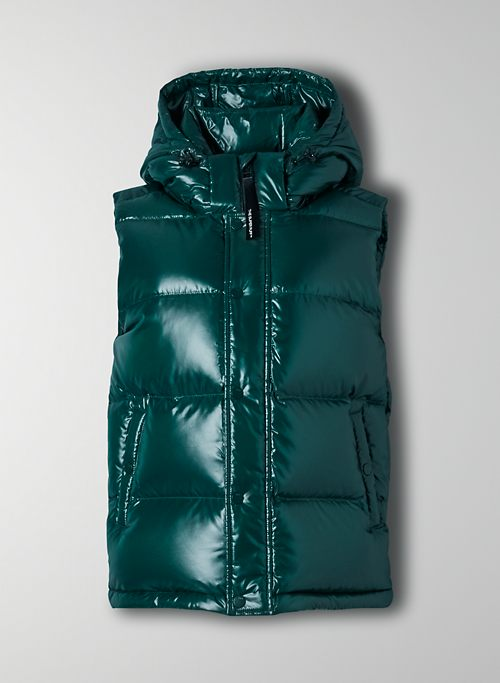 THE SUPER PUFF™ VEST - Shiny goose-down puffer vest