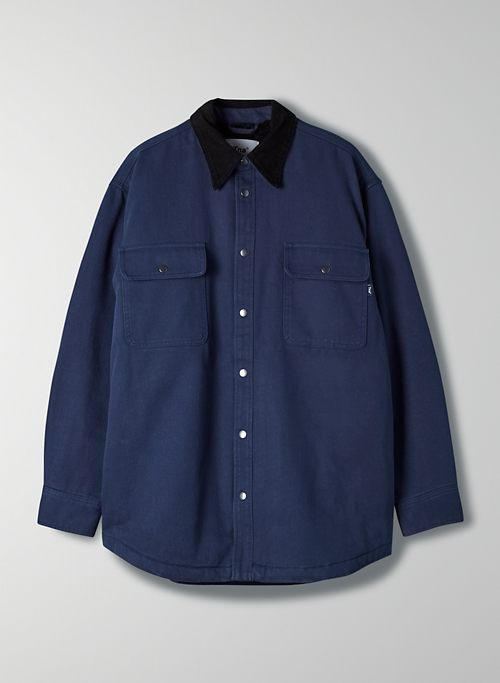TURNER SHIRT JACKET - Sherpa-lined twill jacket