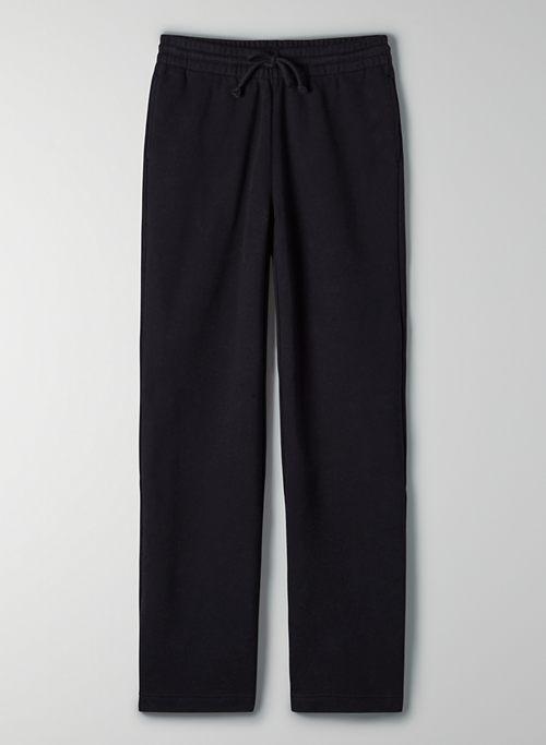 COZY FLEECE BOYFRIEND WIDE SWEATPANT - High-waisted, wide-leg sweatpants