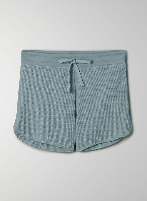 MELROSE SHORT - Waffle-knit pull-on shorts