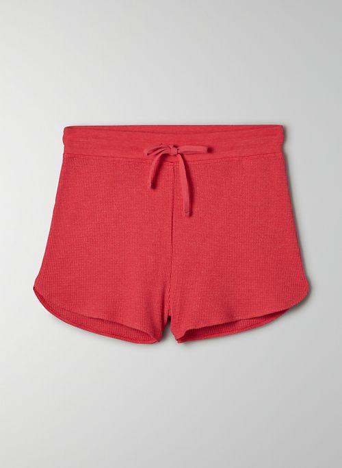 MELROSE SHORT - Pull-on waffle-knit shorts