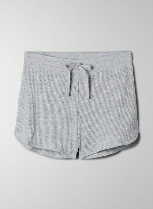 MELROSE SHORT - High-waisted waffle-knit shorts