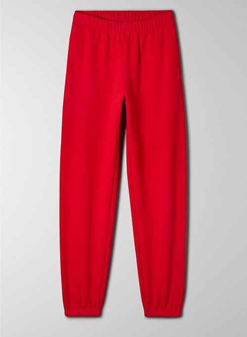 COZY FLEECE BOYFRIEND BASIC SWEATPANT - Elastic-cuff sweatpants