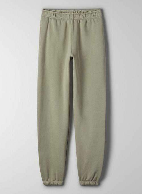 COZY FLEECE BOYFRIEND BASIC SWEATPANT - Elastic-cuff sweatpants