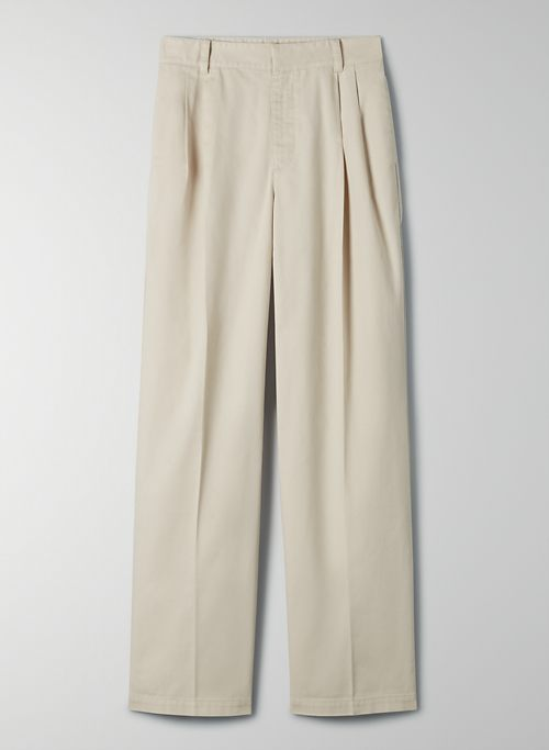 CRAWFORD PANT - High-waisted, pleated chino pant