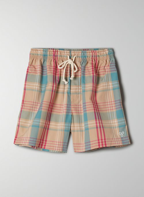 DANBURY SHORT - Mid-rise, plaid short