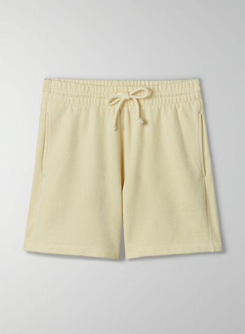 "COZY FLEECE BOYFRIEND 5"" SWEATSHORT - Mid-rise, Cozy Fleece sweatshorts"
