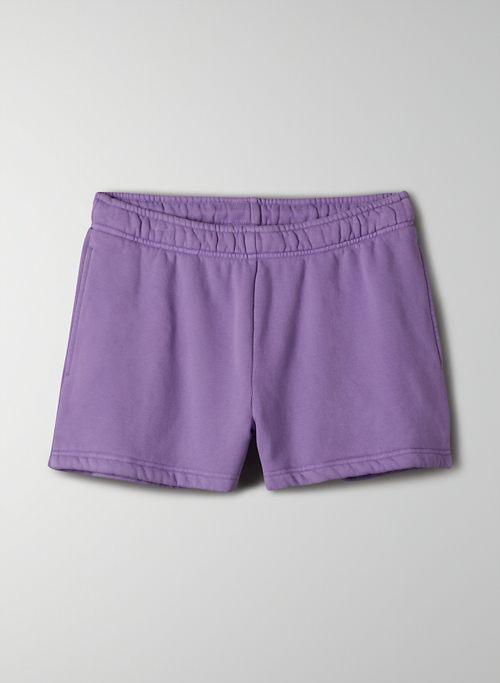 """COZY FLEECE BASIC BOYFRIEND 3"""" SWEATSHORT - Mid-rise, Cozy Fleece sweatshorts"""