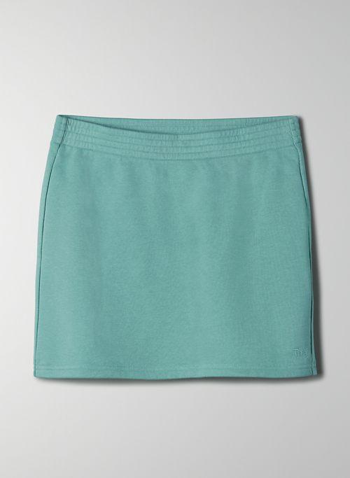 AIRY FLEECE PERFECT SKIRT - Mid-rise mini skirt