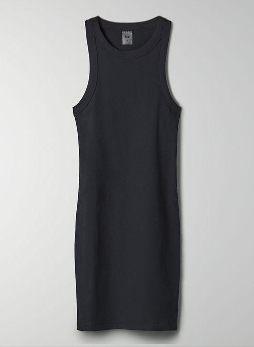 QUARTZ DRESS - Rib-knit, racerback mini dress