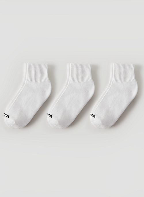 BASE ANKLE SOCK 3-PACK - Cotton ankle socks, three-pack