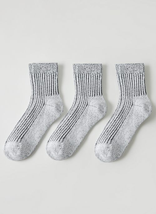 ANKLE SOCK 3-PACK - Ribbed ankle socks, three pack