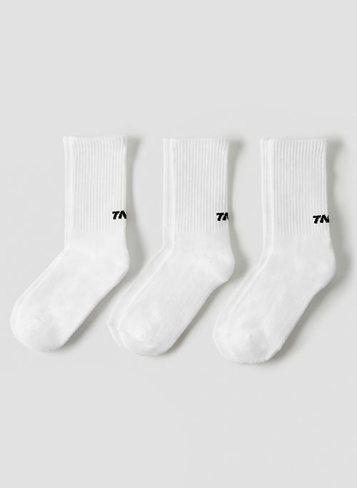BASE CREW SOCK 3-PACK - Ribbed cotton crew socks