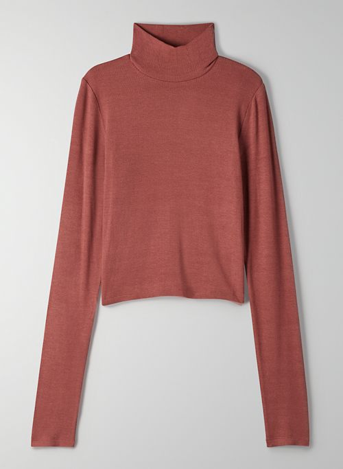 ONLY CROPPED TURTLENECK - Cropped ribbed turtleneck top